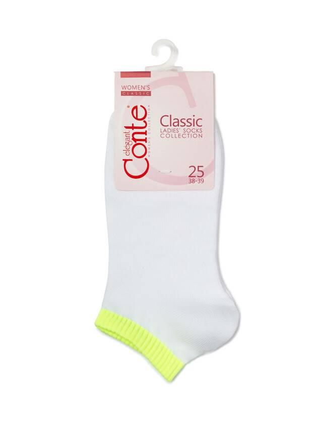 Women's socks CONTE ELEGANT CLASSIC, s.25, 068 white-lettuce green - 3