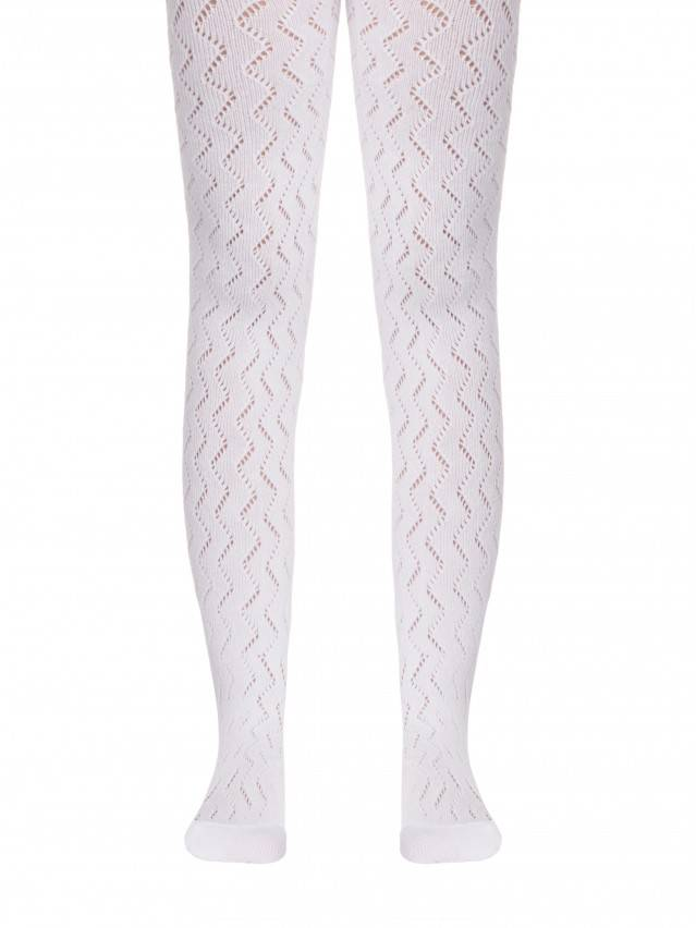 Children's tights CONTE-KIDS MISS, s.104-110 (16),268 white - 1