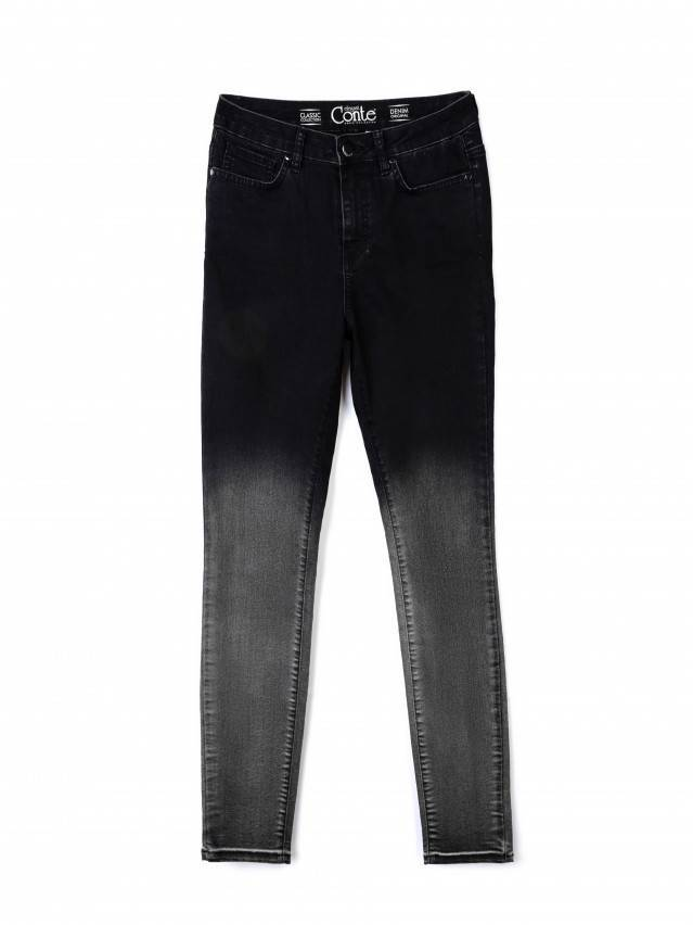 Denim trousers CONTE ELEGANT CON-57, s.170-102, black - 3