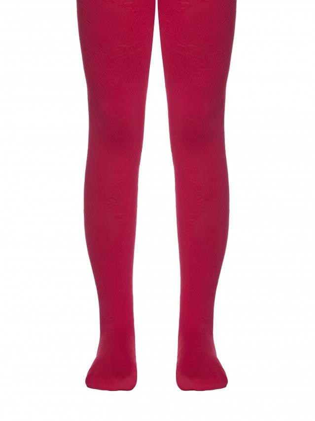 Fancy children's tights CONTE ELEGANT MAGGIE, s.104-110, coral - 1