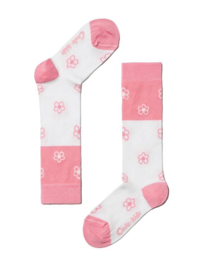 Children's knee high socks CONTE-KIDS TIP-TOP, s.14, 041 white-light pink - 1