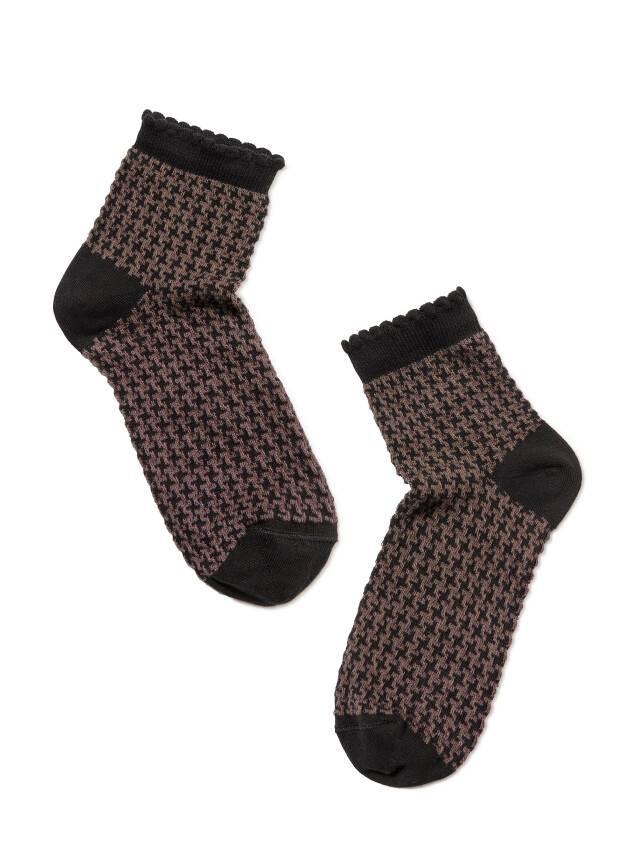 Women's socks CONTE ELEGANT CLASSIC, s.23, 056 black-coffee - 2