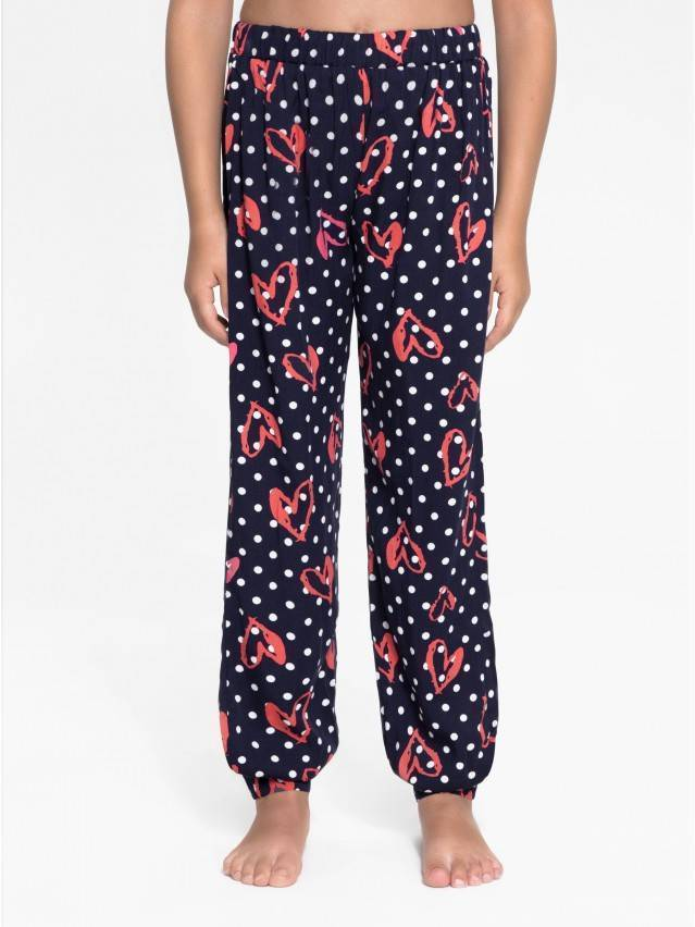Trousers for girl CONTE ELEGANT POIS, s.110-56-51, navy - 1