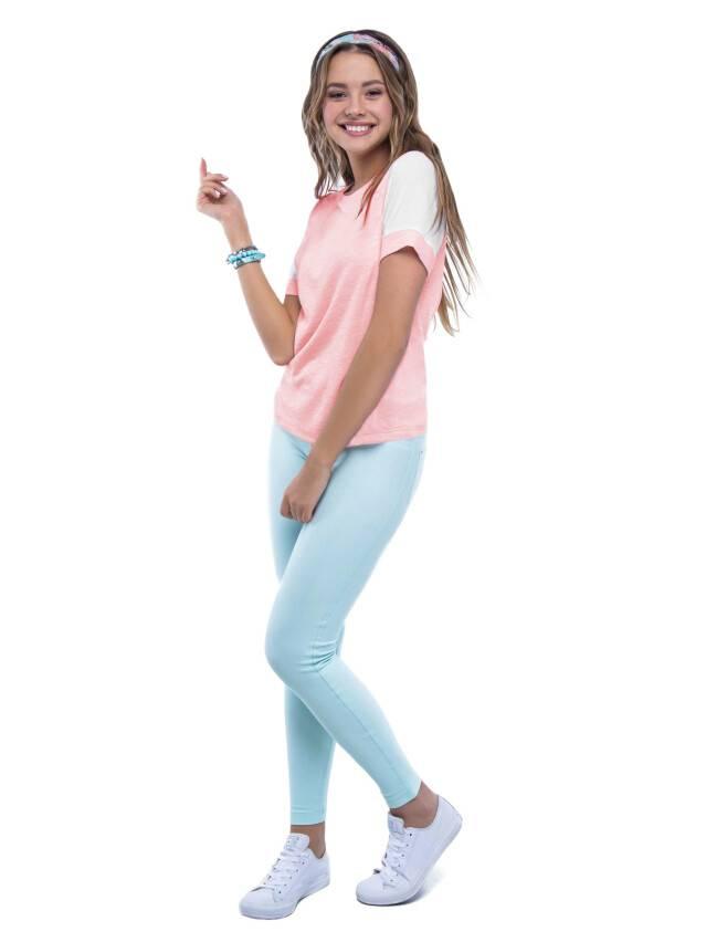 Women's polo neck shirt CONTE ELEGANT LD 515, s.158,164-100, pink - 2