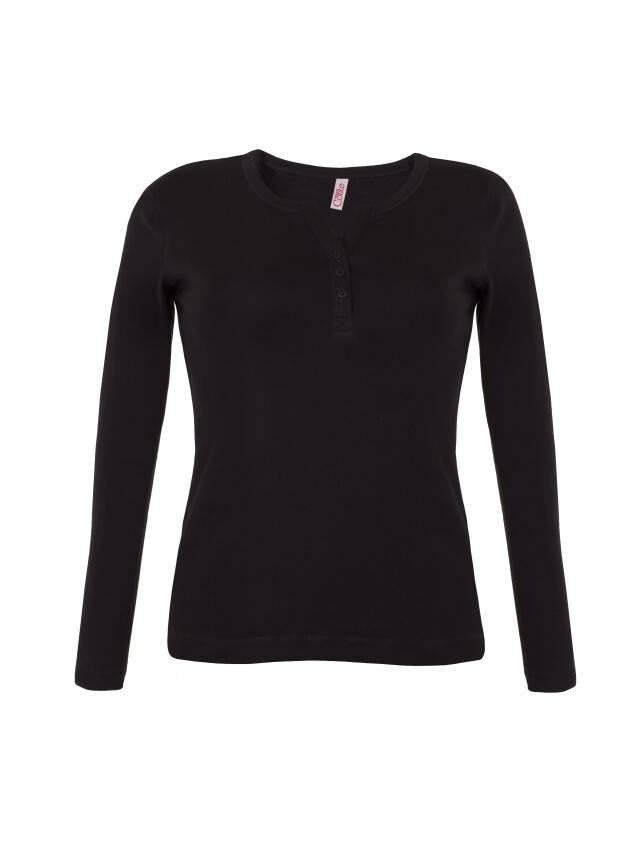 Women's polo neck shirt CONTE ELEGANT LD 599, s.158,164-100, black - 1