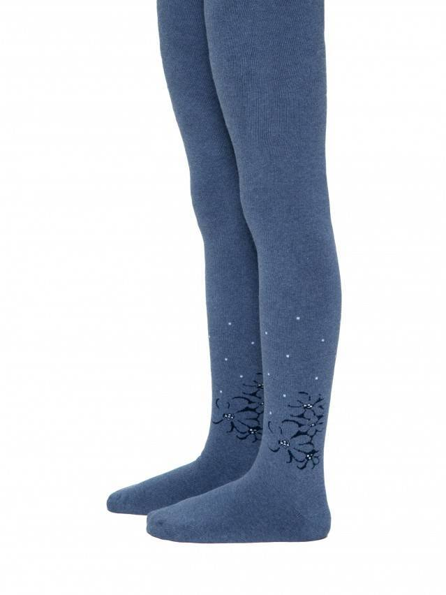Children's tights CONTE-KIDS SOF-TIKI, s.140-146 (22),256 denim - 1