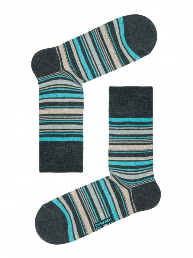 Men's socks DiWaRi HAPPY, s. 40-41, 034 dark grey-wine coloured - 1