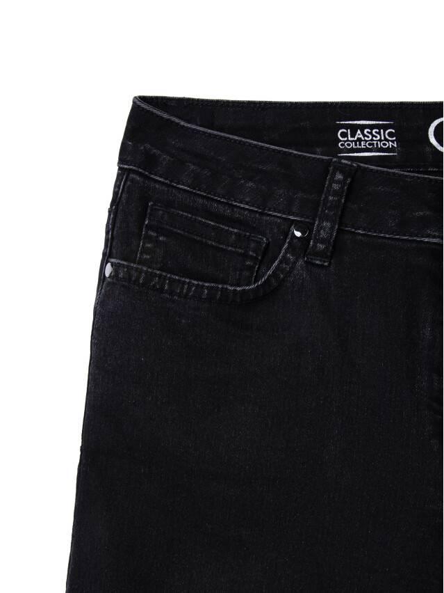 Denim trousers CONTE ELEGANT CON-57, s.170-102, black - 7