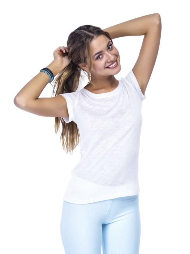 Women's polo neck shirt CONTE ELEGANT LD 499, s.158,164-100, milky - 1