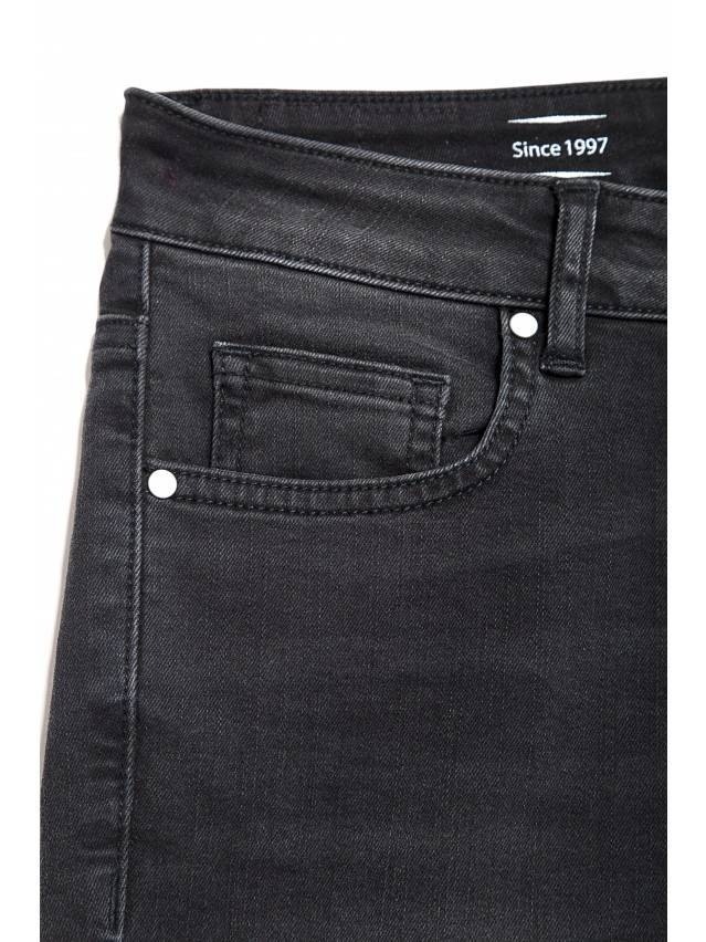 Denim trousers CONTE ELEGANT CON-100, s.170-102, black - 6