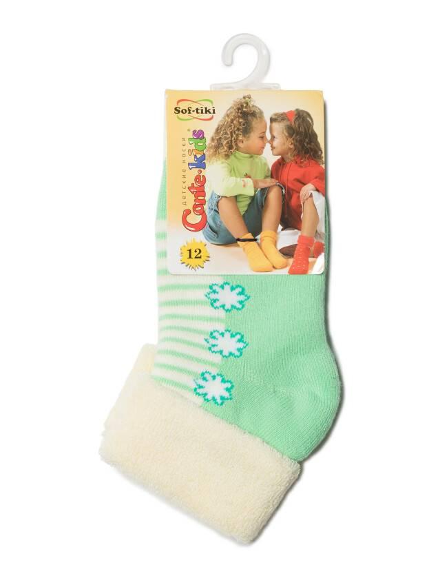 Children's socks CONTE-KIDS SOF-TIKI, s.12, 074 cream-light green - 2