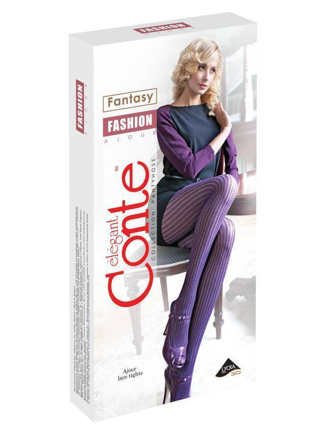 Women's tights CONTE ELEGANT FASHION, s.2, melanzana - 2