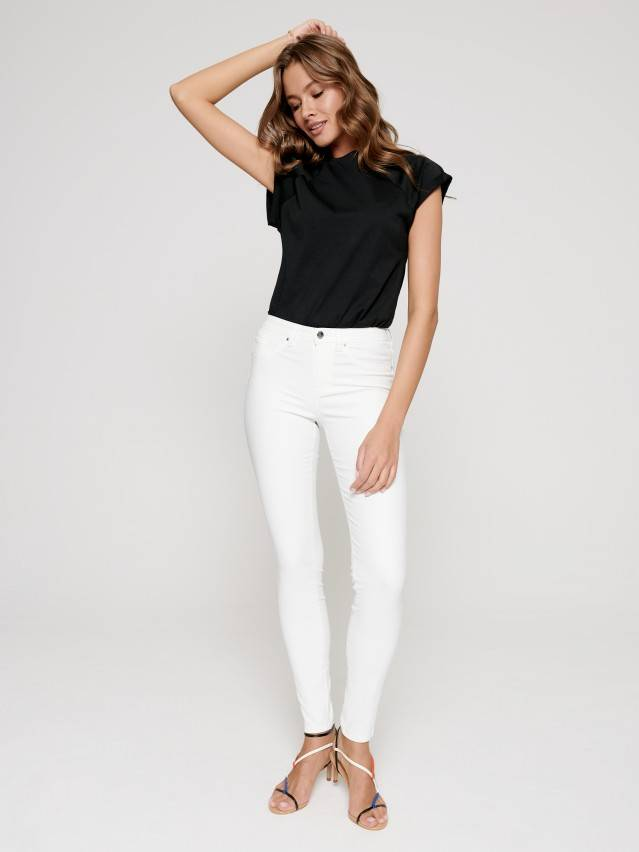 Skinny push up jeans with Mid rise CON-228, s.170-102, white - 1