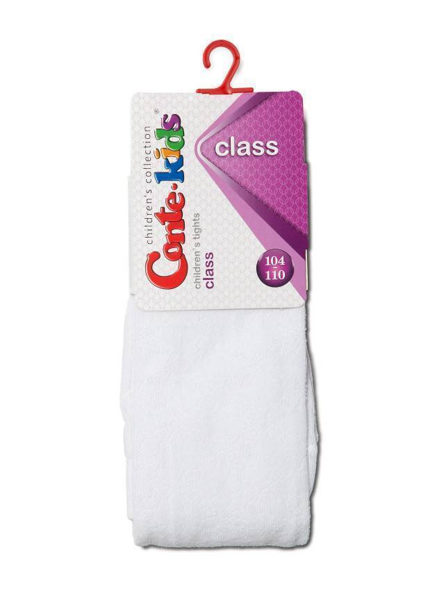 Children's tights CONTE-KIDS CLASS, s.104-110 (16),191 white - 2
