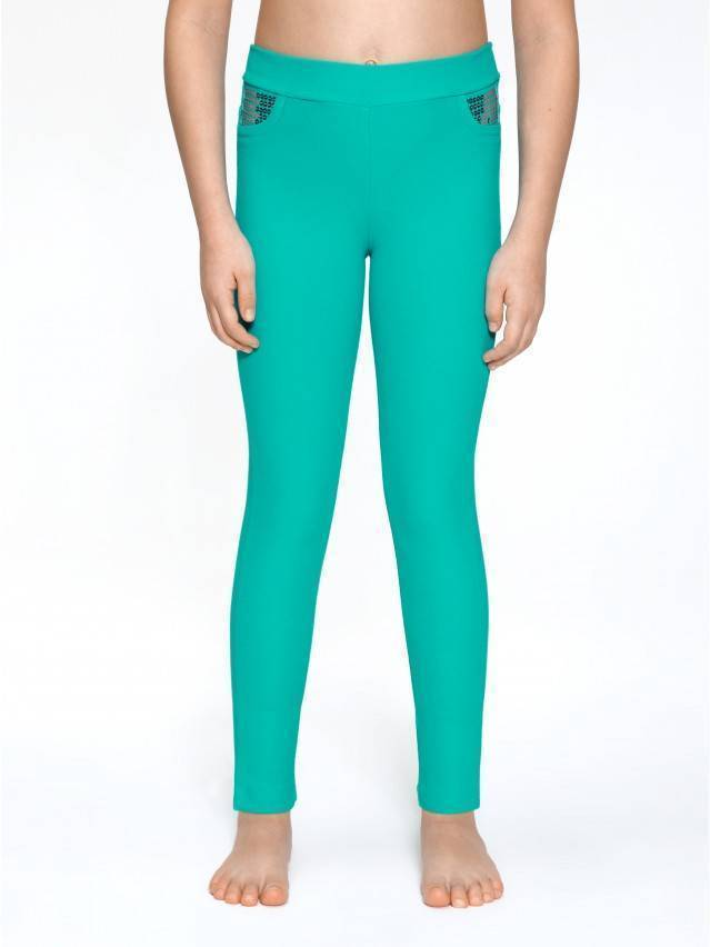 Leggings for girls CONTE ELEGANT PINA, s.110,116-56, green - 1
