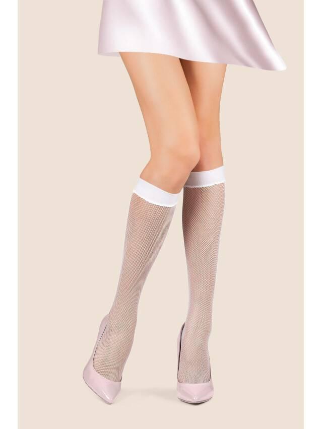 Women's knee high socks CONTE ELEGANT RETINA - MICRO, s.23-25, bianco - 1