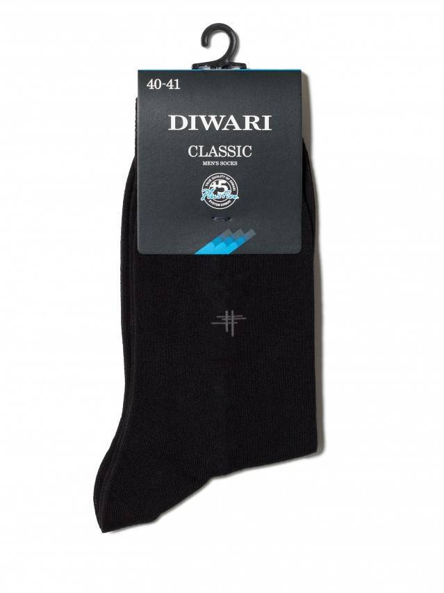 Men's socks DiWaRi CLASSIC, s. 40-41, 007 black - 2