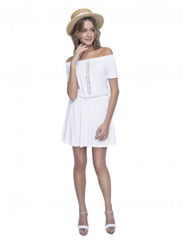 Women's gown CONTE ELEGANT LPL 523, s.158,164-100-106, milky - 4