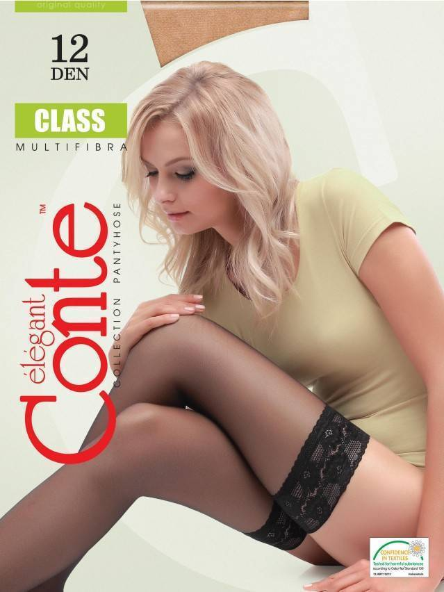 Women's stockings CONTE ELEGANT CLASS 12, s.23-25 (1/2),natural - 2