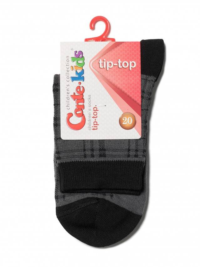 Children's socks CONTE-KIDS TIP-TOP, s.20, 196 ash grey - 2