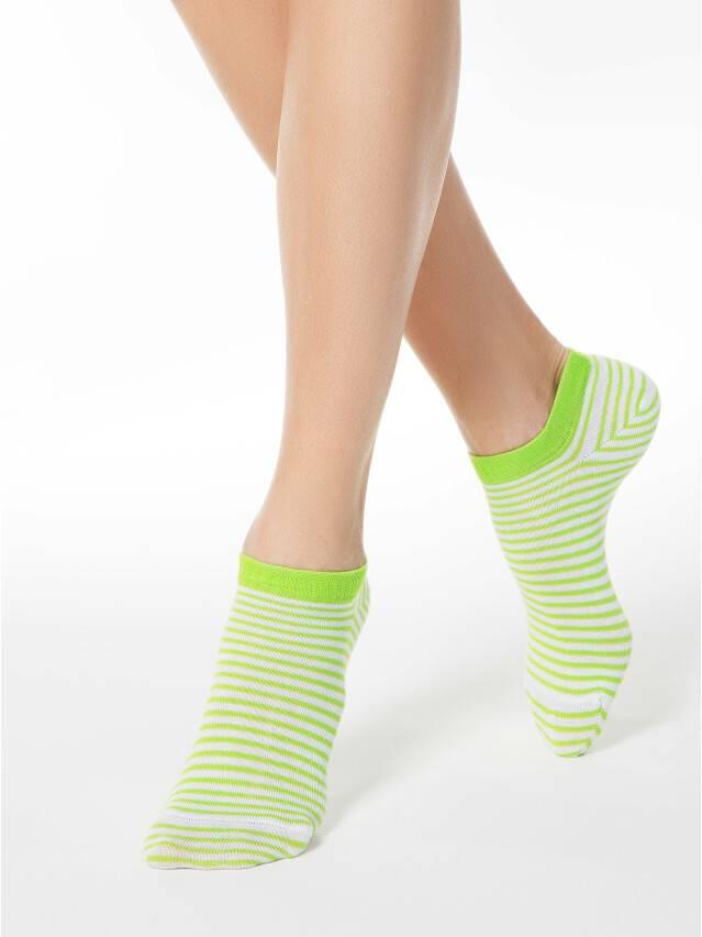 Women's socks CONTE ELEGANT ACTIVE, s.23, 073 white-lettuce green - 1
