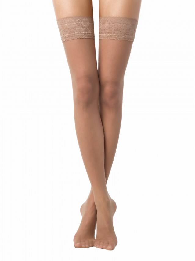 Women's stockings CONTE ELEGANT CLASS 12, s.23-25 (1/2),natural - 1