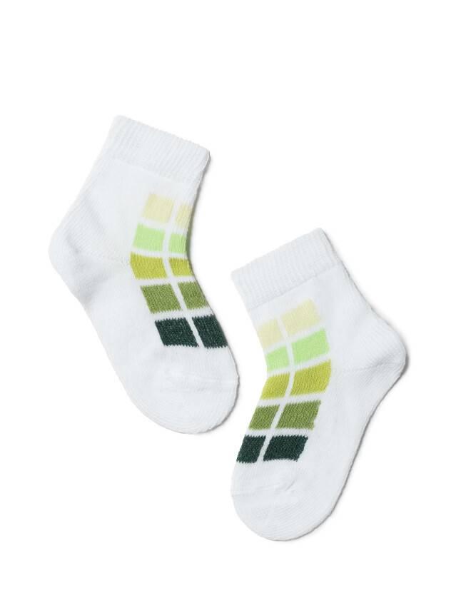 Children's socks CONTE-KIDS TIP-TOP, s.10, 217 white-lettuce green - 1