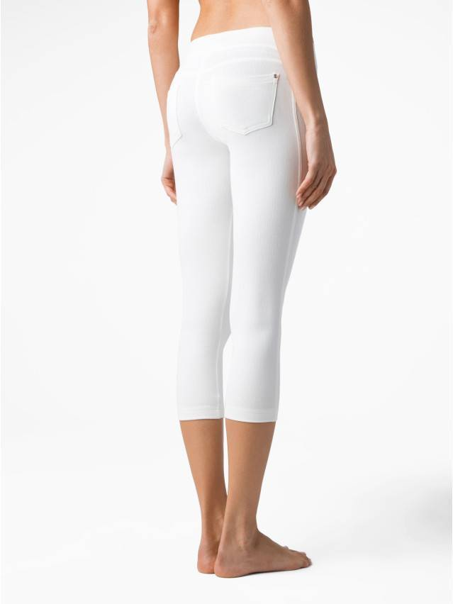Women's knee pants CONTE ELEGANT MARTINA, s.164-102, white - 2