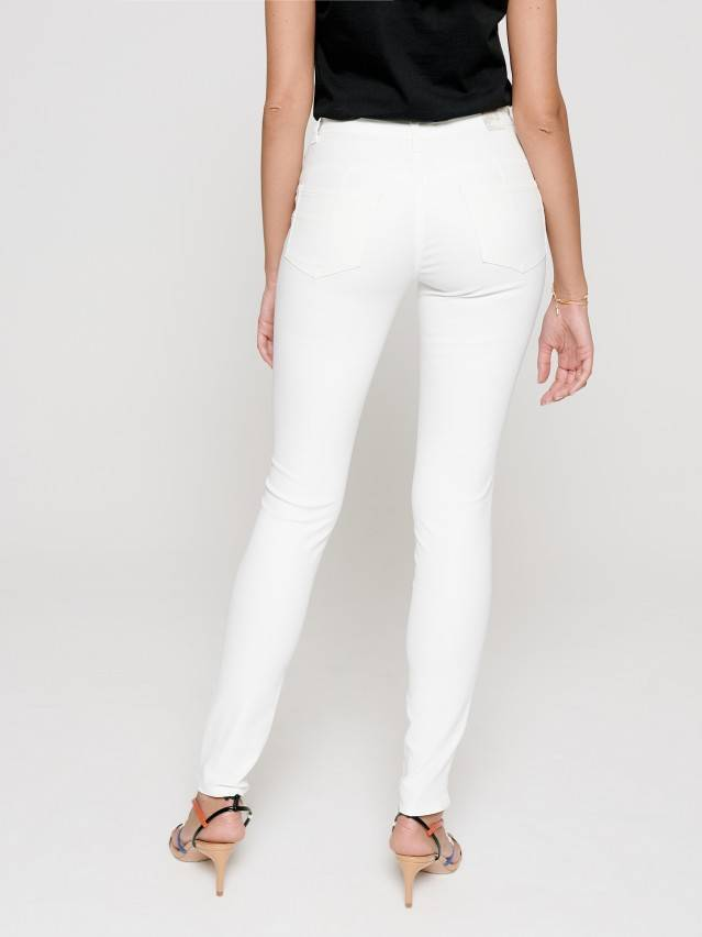 Skinny push up jeans with Mid rise CON-228, s.170-102, white - 3