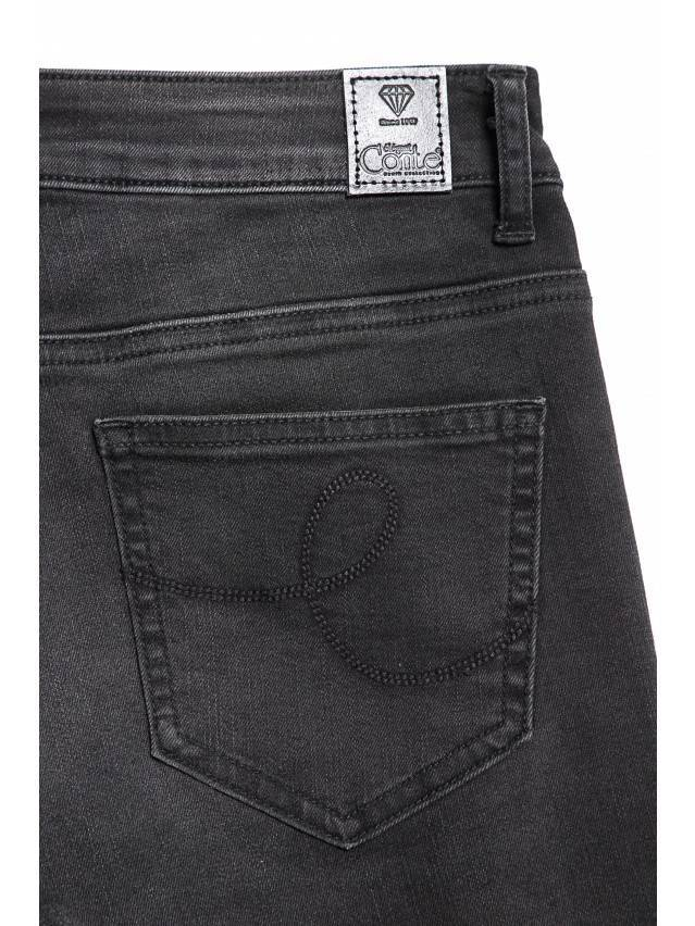 Denim trousers CONTE ELEGANT CON-100, s.170-102, black - 8