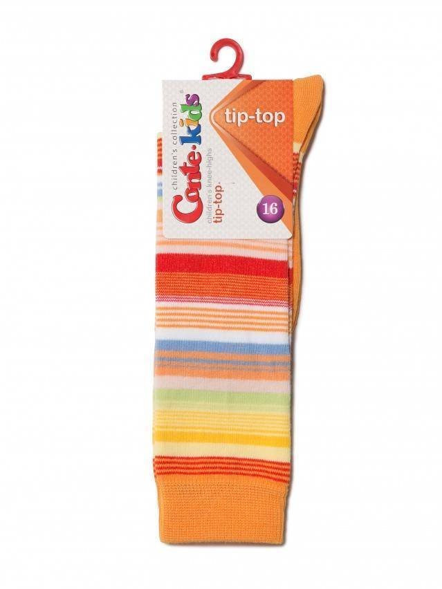 Children's knee high socks CONTE-KIDS TIP-TOP, s.16, 024 orange - 2