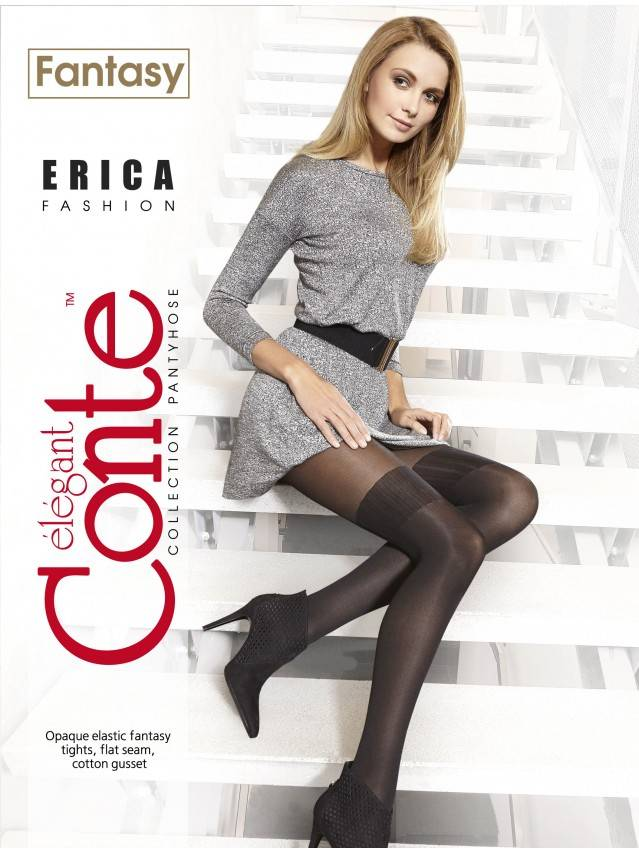 Women's tights CONTE ELEGANT ERICA, s.2, grafit - 2