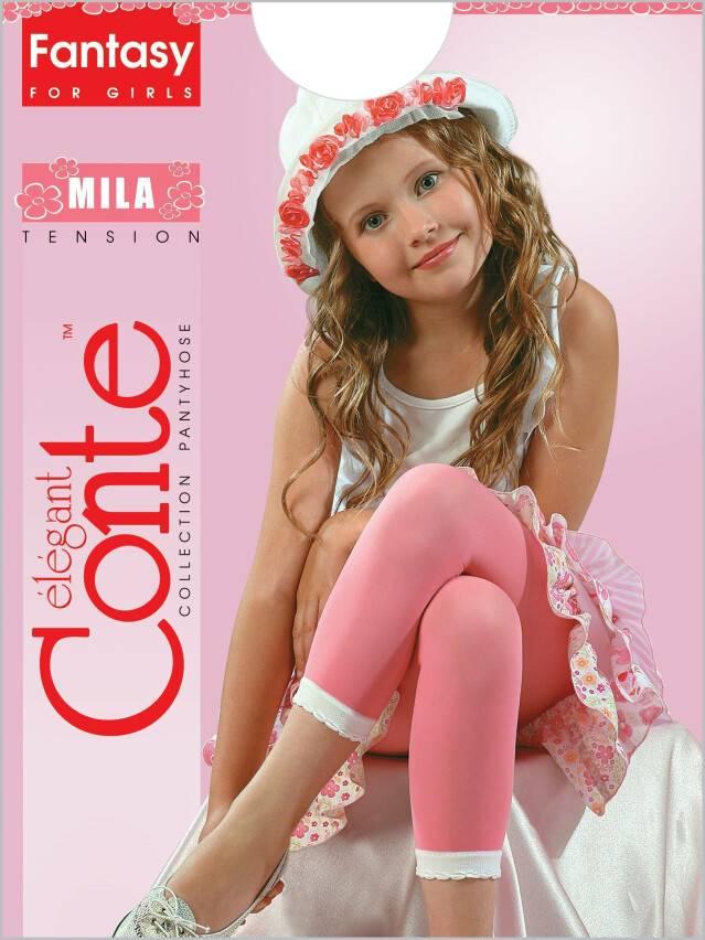 Leggings with decorative picot MILA 1