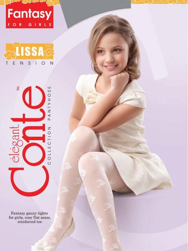 Fancy children's tights CONTE ELEGANT LISSA, s.104-110, natural - 2