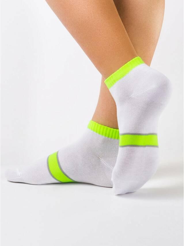 Women's socks CONTE ELEGANT CLASSIC, s.23, 066 white-lettuce green - 1