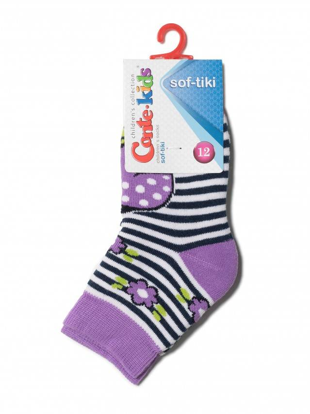 Children's socks CONTE-KIDS SOF-TIKI, s.12, 246 lilac - 2