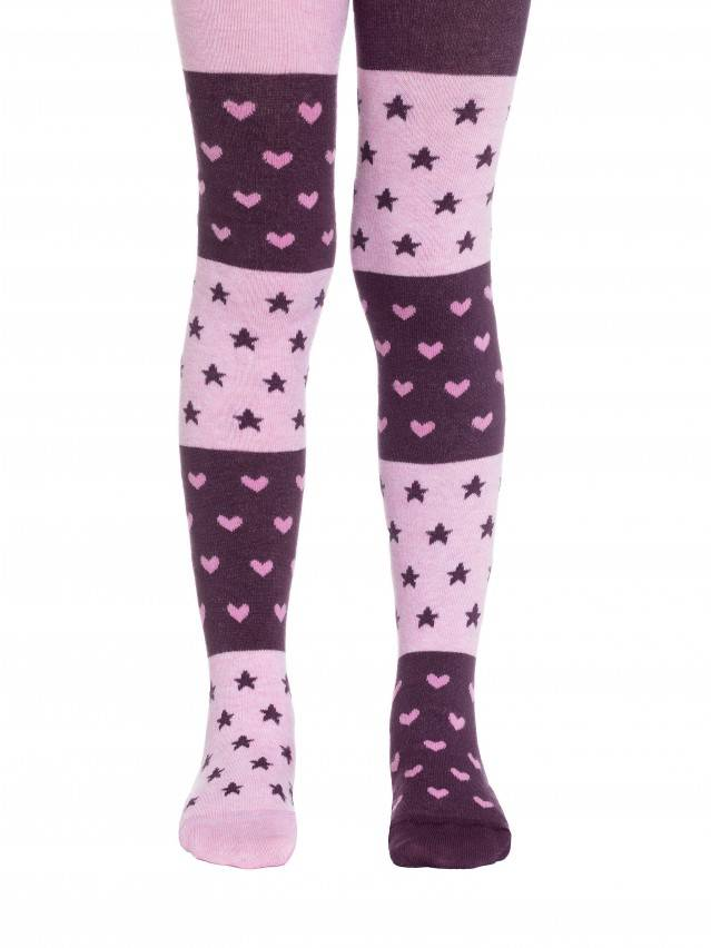 Children's tights CONTE-KIDS TIP-TOP, s.116-122 (18),405 aubergine-light pink - 1