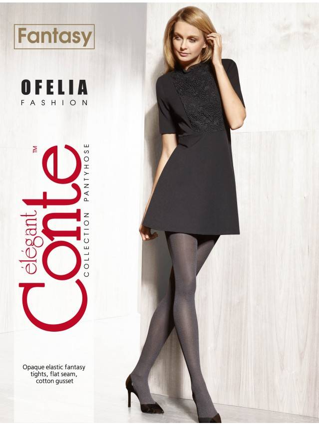 Women's tights CONTE ELEGANT OFELIA, s.2, grafit - 3