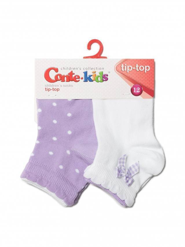 Children's socks CONTE-KIDS TIP-TOP (2 pairs),s.12, 705 white-lilac - 3