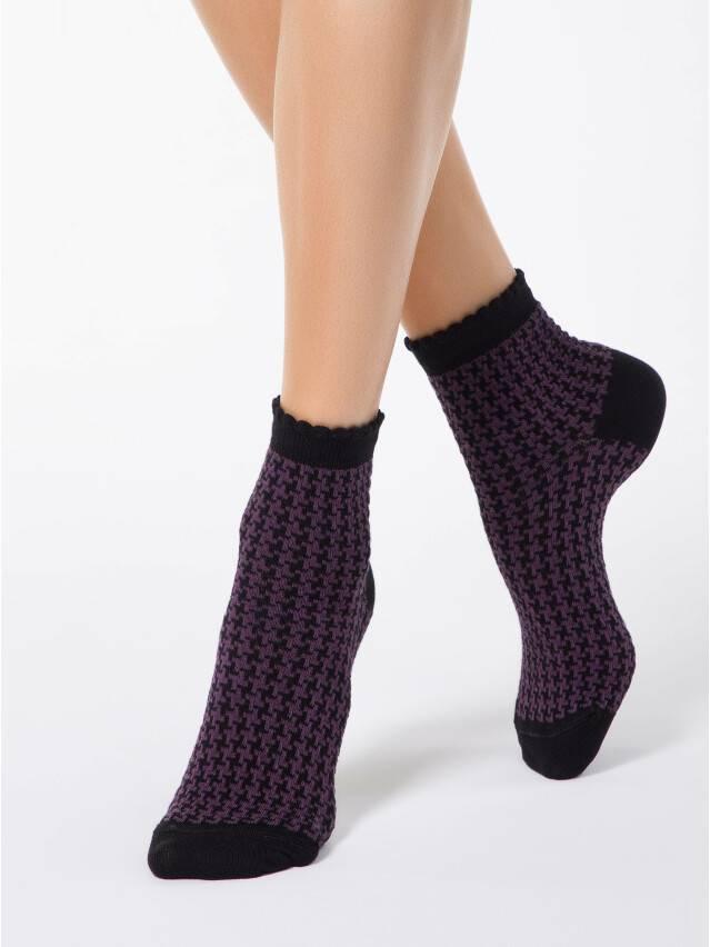 Women's socks CONTE ELEGANT CLASSIC, s.23, 056 black-aubergine - 1