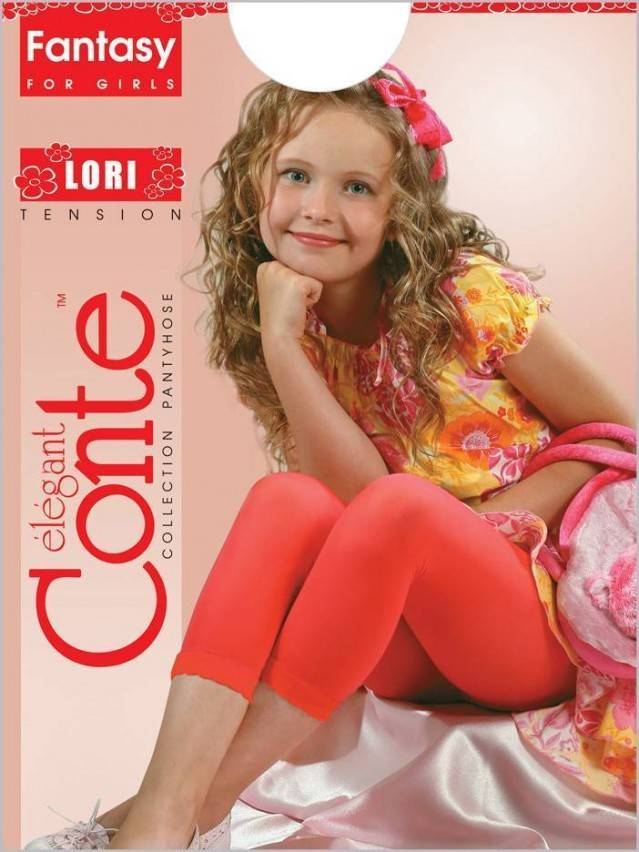 Smart children's leggings CONTE ELEGANT LORI, s.128-134, rosso - 1