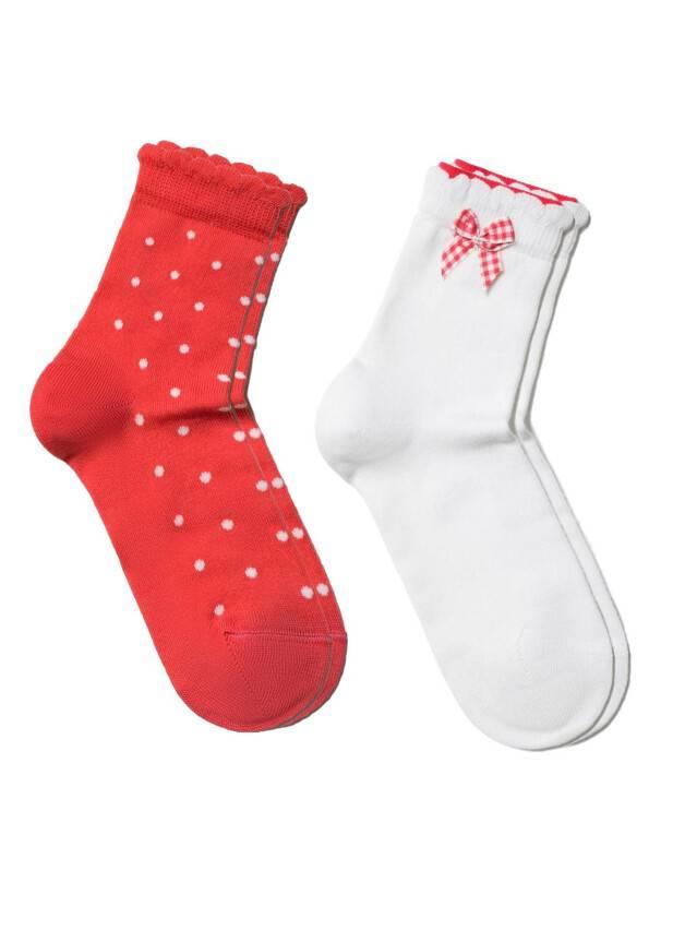 Children's socks CONTE-KIDS TIP-TOP (2 pairs),s.12, 705 white-red - 1