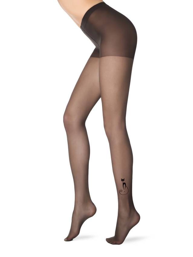 Women's tights CONTE ELEGANT FLOCK, s.2, nero - 1