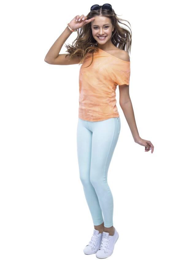 Women's polo neck shirt CONTE ELEGANT LD 511, s.158,164-100, orange - 2