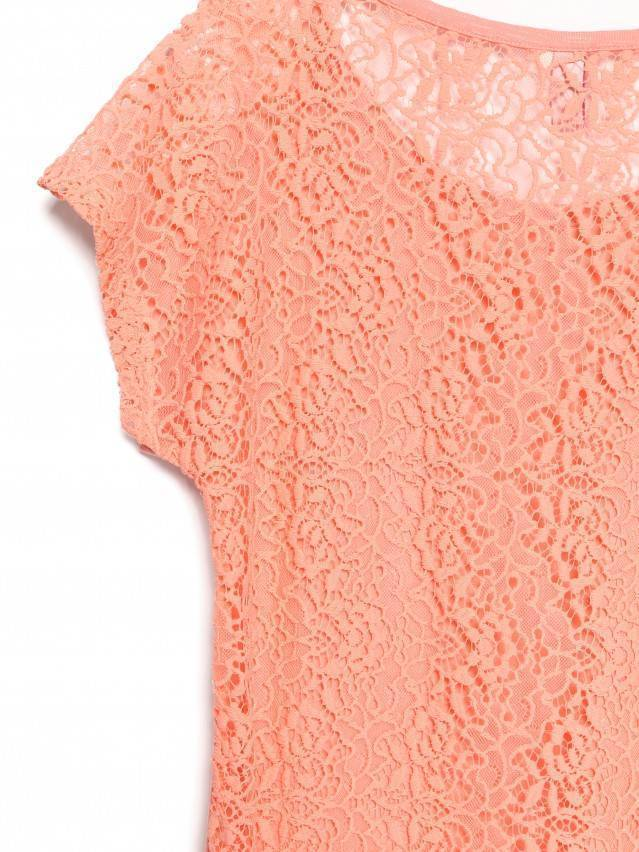 Women's polo neck shirt CONTE ELEGANT LD 527, s.158,164-100, peach - 4
