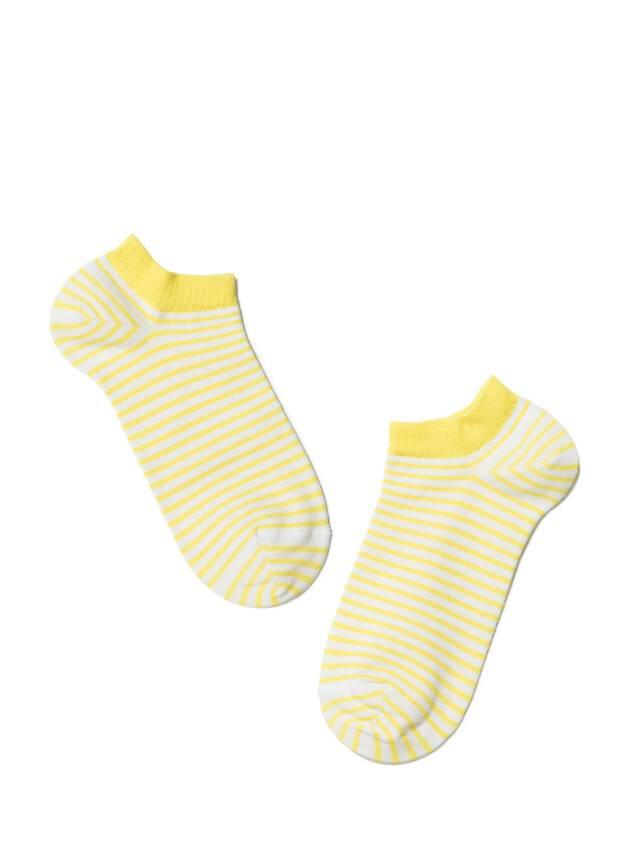 Women's socks CONTE ELEGANT ACTIVE, s.23, 073 white-yellow - 2