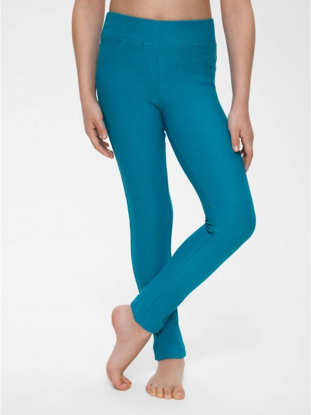 Leggings for girls CONTE ELEGANT ALBA, s.122,128-64, sea-green - 1