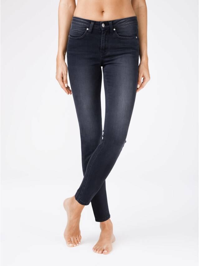 Denim trousers CONTE ELEGANT CON-97, s.170-102, black - 1
