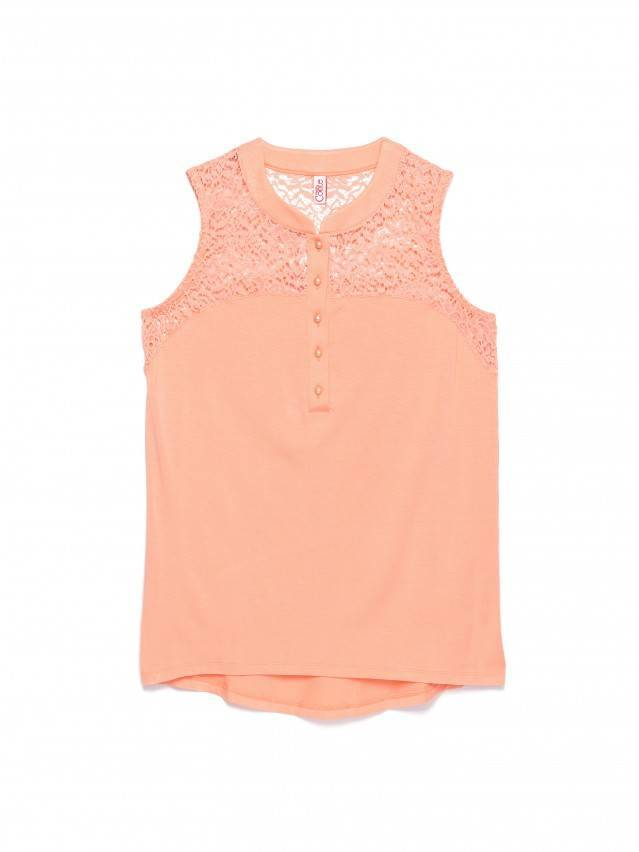 Women's polo neck shirt CONTE ELEGANT LD 514, s.158,164-84, peach - 1