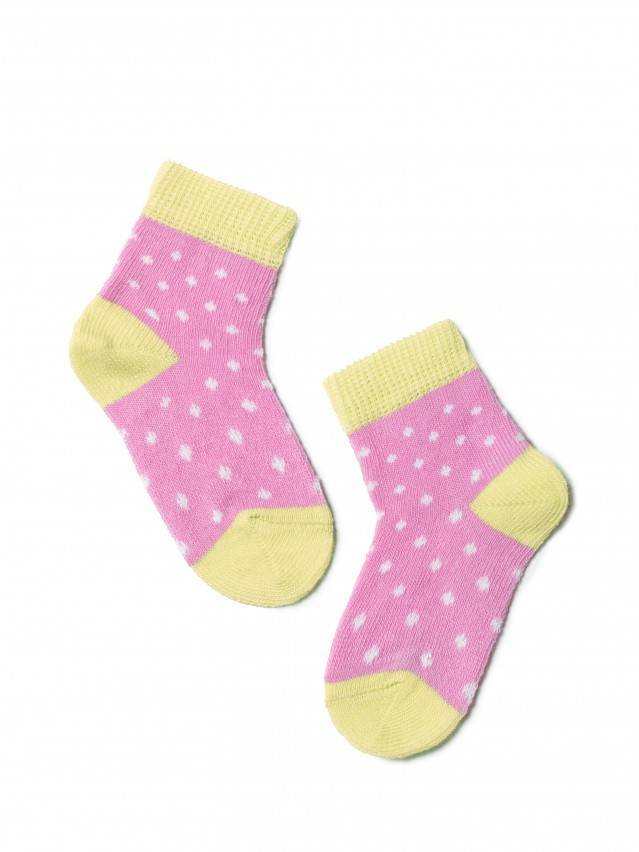 Children's socks CONTE-KIDS TIP-TOP, s.8, 214 mallow-yellow - 1